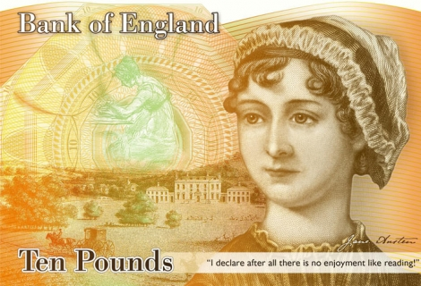 Jane Austen: The Face of the New £10 Note